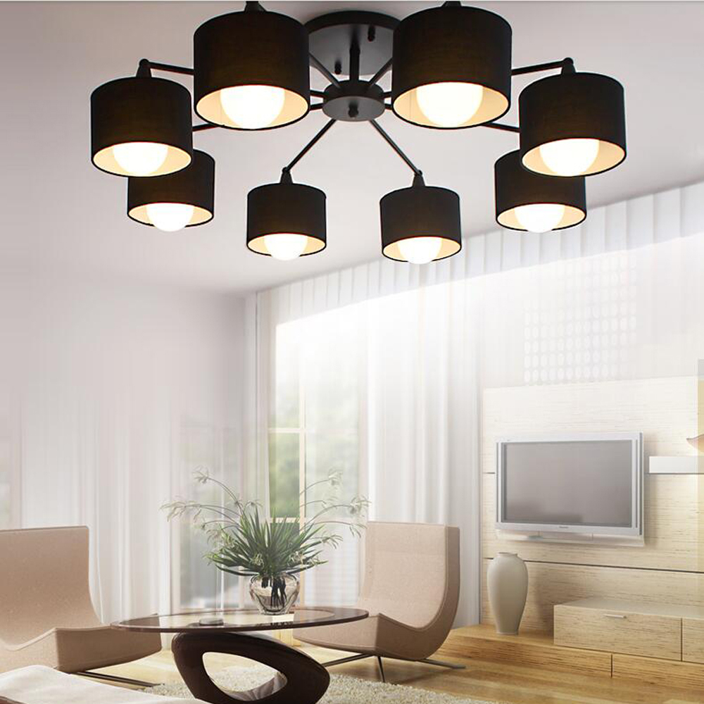 Decke Lichter Led E14 Postmodernen Eisen Kristall Stoff Chrome Led Lampe Decke Lampe Für Foyer Led Licht Led Decke Licht