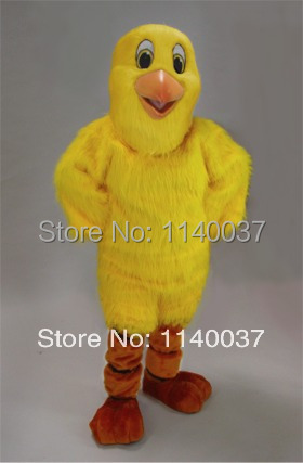 mascot Plush Material Yellow Chick Chicken Mascot Costume Outfit Suit Fancy Dress for St ...