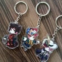 Anime Axis Powers Hetalia Japan Italy France llavero Doubleside Print Pendant Key Holder Keychain Keyrings Portachiavi