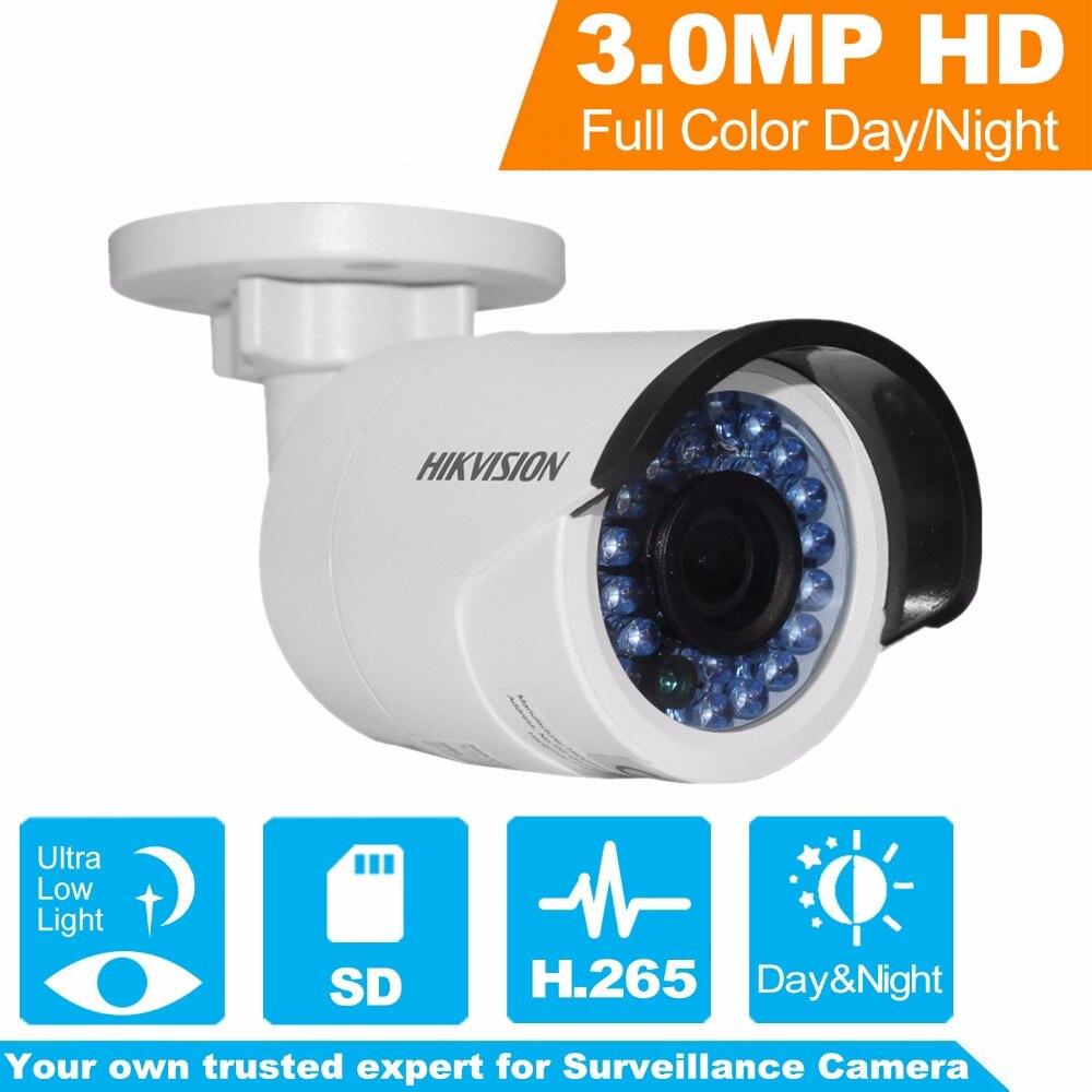 HIKVISION CCTV Camera H.265 IP Camera DS-2CD2035FWD-I 3Megapixels Ultra-Low Light Network Bullet Camera with IR Night Version bullet camera tube camera headset holder with varied size in diameter