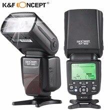 K & F концепция KF590EX-C E-TTL flash Скорость света высокой Скорость синхронизации HSS GN56 ведомого Профессиональный для Canon цифровых зеркальных камер