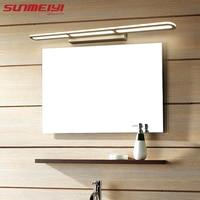 Led nowoczesna lampa ścienna akrylowa kinkiet AC90 260V Wandlamp do sypialni łazienka aplikacja Murale oprawa lustro ścienne oprawy oświetleniowe w Wewnętrzne kinkiety LED od Lampy i oświetlenie na