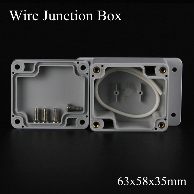 IP65 63x58x35mm Waterproof Junction Box Plastic Project Box Electrical Connector Terminal Outdoor Enclosure Box Wall Mounting