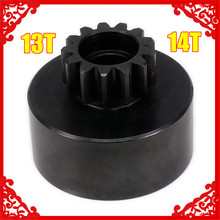 14T 13T Clutch Bell Gear Metal For 1/8 RC Car Wltoys HPI HSP Traxxas Axial Kyosho Redcat Himoto Hi Speed цены онлайн