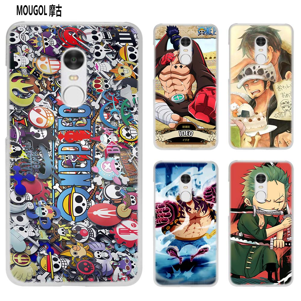MOUGOL Luffy smile one piece  transparent Case Cover Shell for Xiaomi Redmi Note MI A1 4X 5 5A 4 4A 3 Plus 5X
