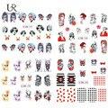 1 Hoja de Uñas de Arte del Vampiro de Halloween Diseños de Flores Completa Wraps Pegatinas de Transferencia de Agua Tatuajes de Manicura Herramientas de Belleza BN197-200