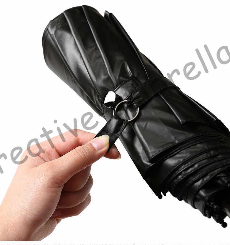 3 шт. получите 1 шт. Бесплатный Стеклопластик, ветрозащищенный 5 раз черное покрытие анти-УФ карманный зонтик складной зонт забудьте меня не цветы печати