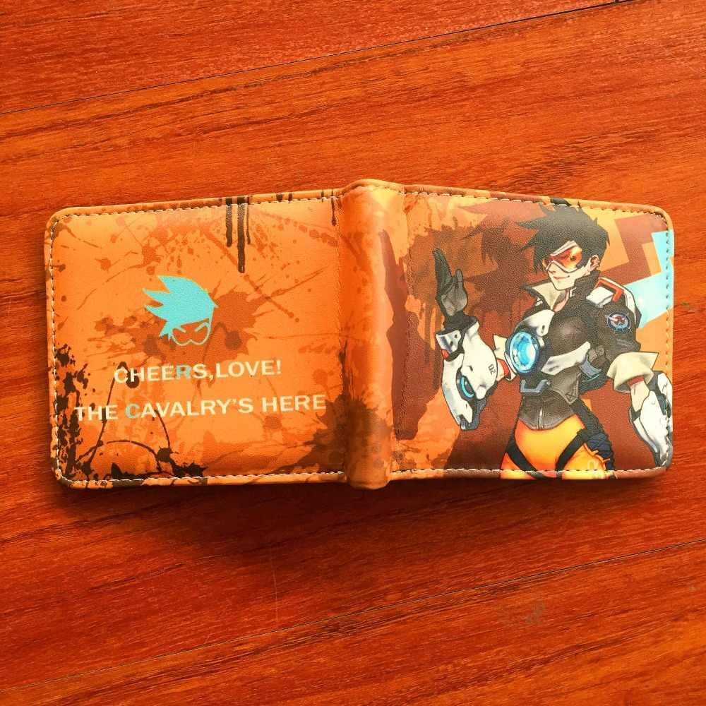 Кошельки Overwatch Tracer жнец Overwatch сумка кожа деньги бумажник W699Y