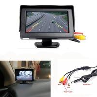 Koorinwoo sistema di Parcheggio Auto Monitor 4.3 TFT LCD schermo Digitale 840*480 supporto PAL/NTSC TV a schermo-tuner Ingresso Audio/Video