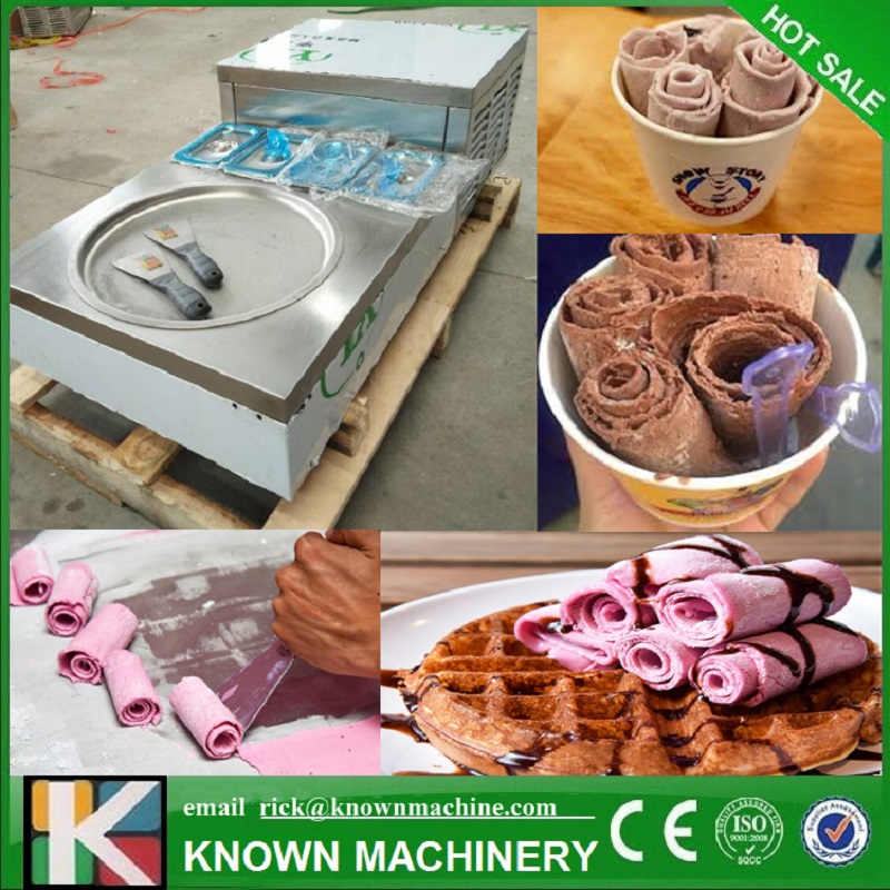 Newest!!! 304 Stainless Steel Food Grade 35 Cm Fried Ice Cream Make Machine With Panasonic Compressor  (free Shipping By Sea)