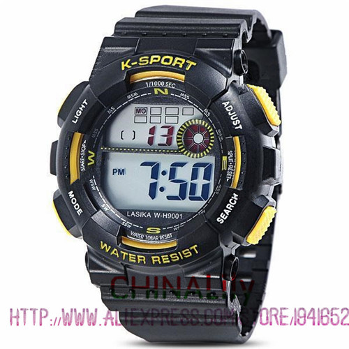 30M Water Proof Analog Digital Watch Electronic Rubber Band Alarm Sports Outdoors for Men Boy Waterproof