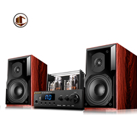 KH 80S Hifi Audio System DJ Bass BluetoothTube Amplifier Multimedia Sereo Sound Wooden Wireless 2.0 Home Theater Speaker System