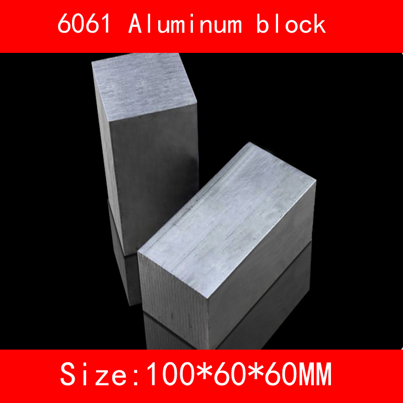 6061 aluminum block size 100*60*60mm AL Metal silver color 1 pcs icover icover carbio apple ipad mini 4