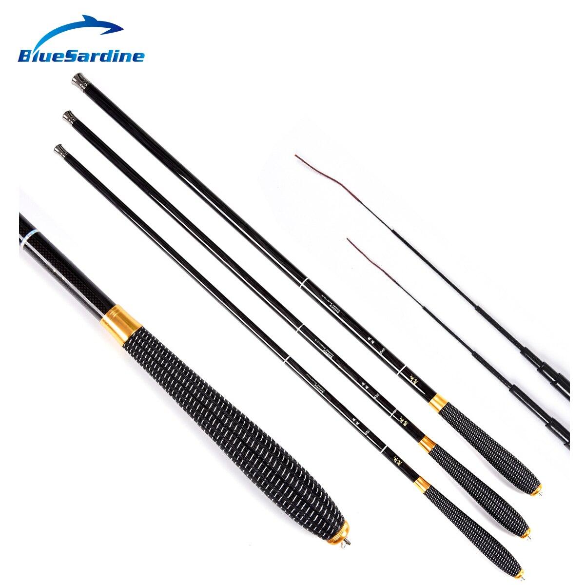 Bluesardine Hand-Pole Fishing-Rod Telescopic Carbon Carp Ultra-Light Streams