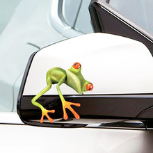 3D Frogs Car Tank Window Stickers On Car Mirror Stickers And Decals Funny Animal Sticker Stripe Vinyl Car Accessories Auto Decor(China)