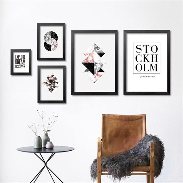 ... Wand Kunst Design Finden Sie Ihre Wohnung Kunst Wohnzimmer 1 Jpg Online  Shop Nordic Abstrakte Kunst Leinwand Poster Geometrische ...