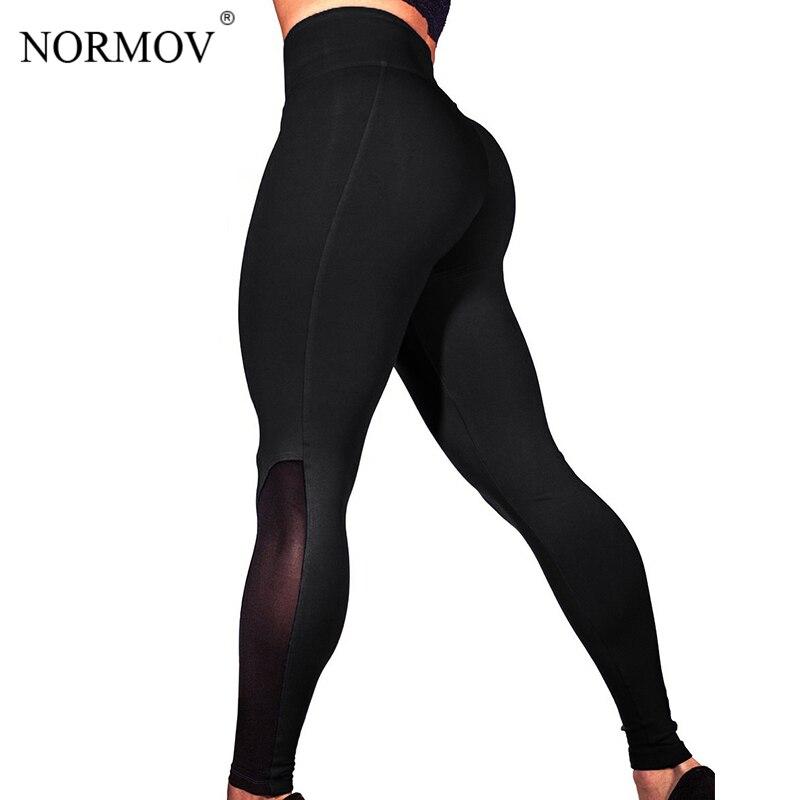 NORMOV Push Up Mesh   Leggings   Women Plus Size Fitness   Legging   Sporting   Leggings   Women Workout Pants Jeggings S-3XL 3 Colors