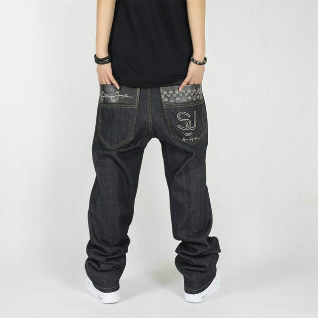 Autumn Winter Big Size S-4xl 42 New Fashion Casual Black Jeans Mens Joggers  Loose f85bedd5693