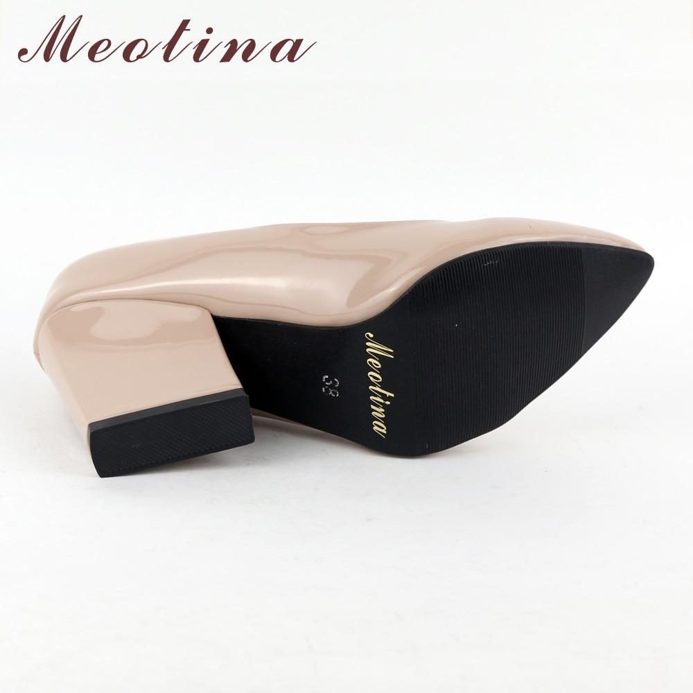 Meotina High Heels Schuhe Frauen Weiß Hochzeit Schuhe Dicke High - Damenschuhe - Foto 5