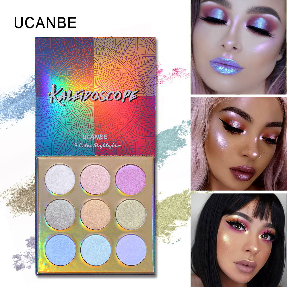 Eye Shadow Hospitable Ucanbe Duochrome Laser Polarized Eye Shadow Makeup Palette High-shine Glitter Highlighter Shimmer Brilliant Eyeshadow Powder Up-To-Date Styling