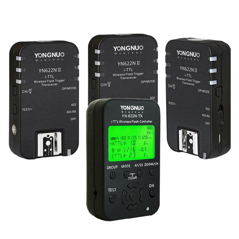 YONGNUO YN622N TX i TTL LCD 2 4G Wireless HSS Speedlite Controller Flash Trigger 3pcs YN622N
