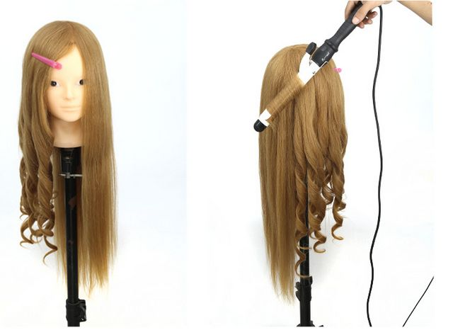 85 Natural Hairstyling Head Manikin With Human Hair Hairdressing Mannequins Mannequin Hairdresser