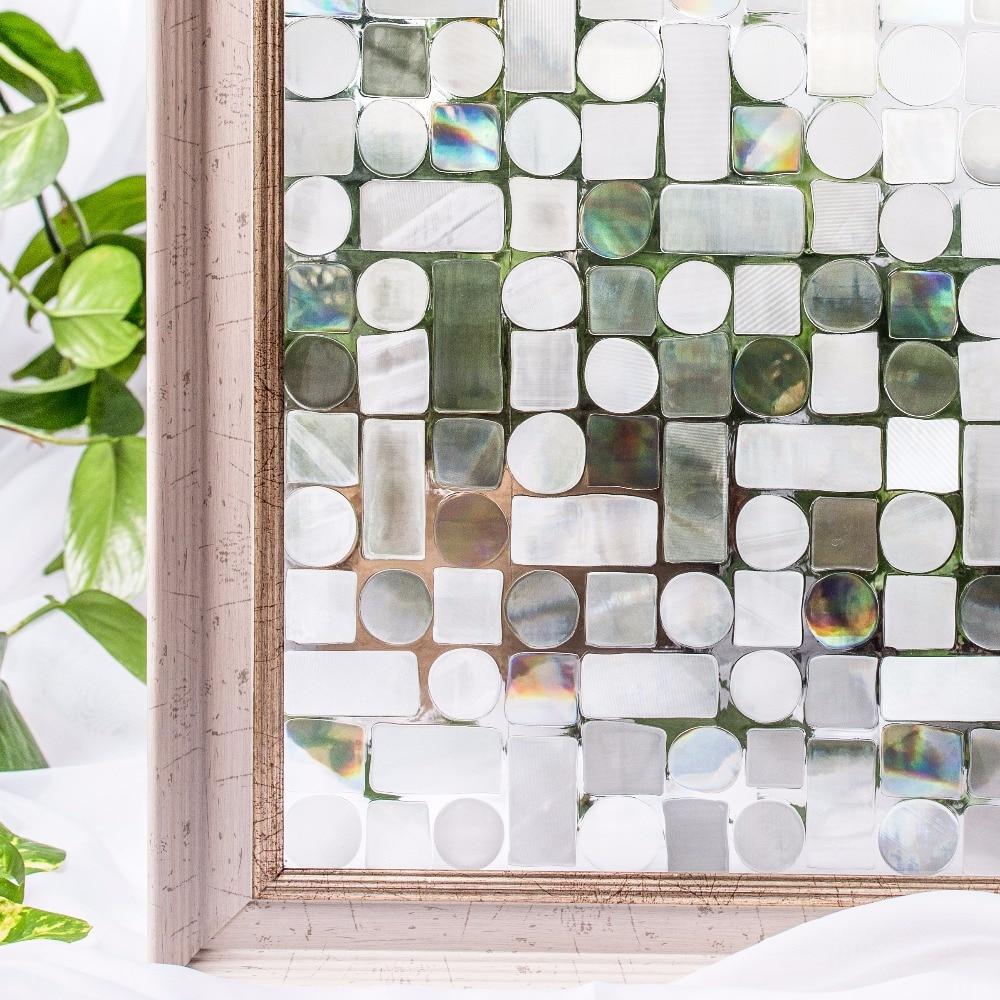 CottonColors PVC Waterproof Privacy Window  Film No-Glue 3D Static Decorative Window Glass Stickers Size 90 x 200cm