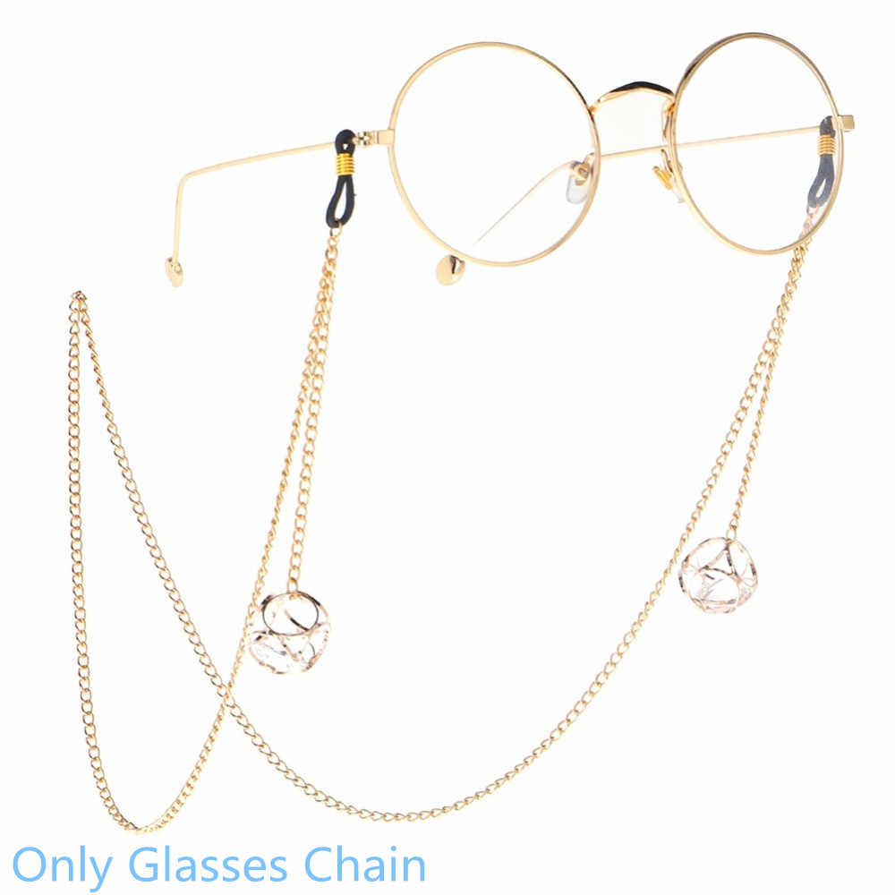 Hot Sale Glasses Chain Women Gold Color Metal Sunglasses Chain Fashion Mini Crown Pendant Eyeglass Lanyard Rope Pendant Jewelry