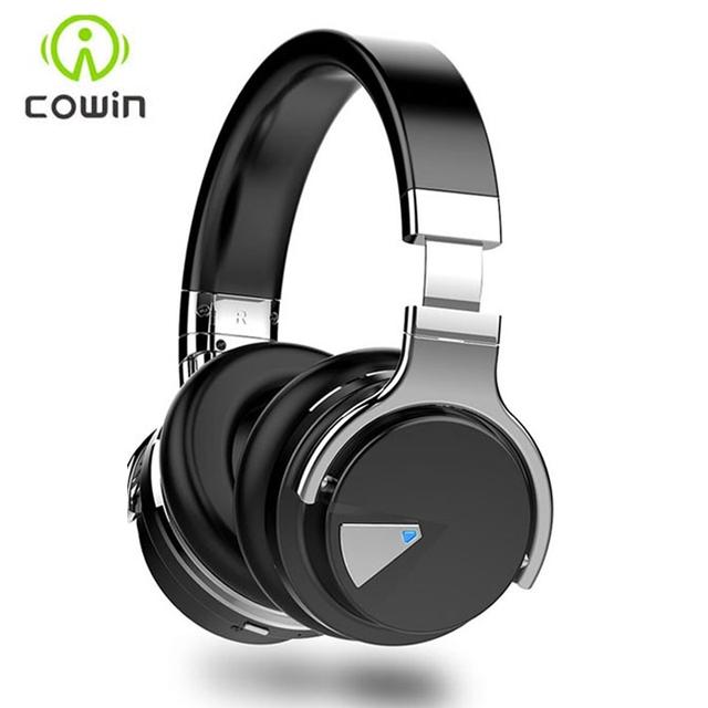 Cowin e-7 over ear auriculares bluetooth inalámbricos con micrófono estéreo bluetooth headset/auriculares para pc teléfono 30 horas de música