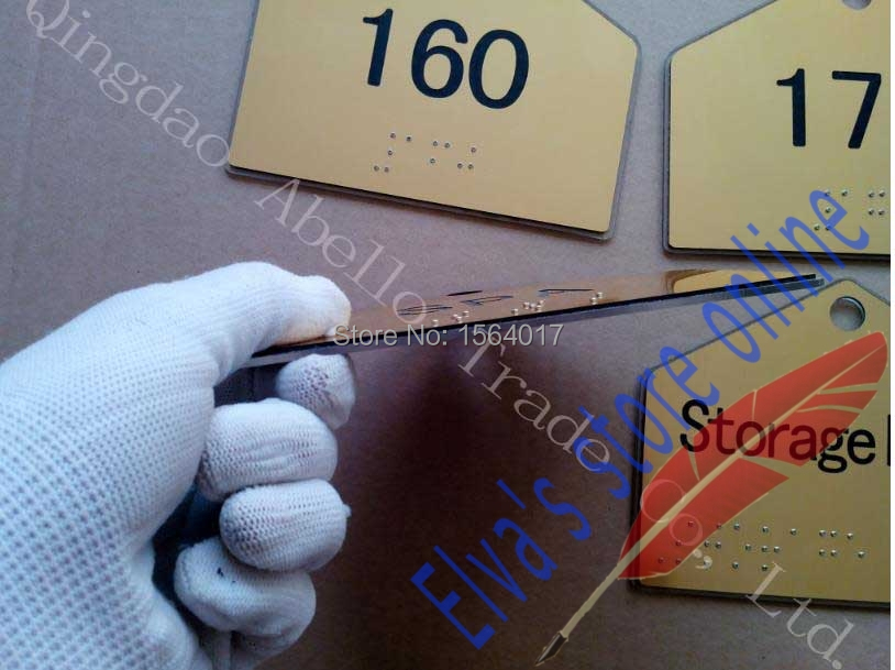 Acrylic ABS PVC plastic wood metal paper card braille door sign outdoor advertising sign board