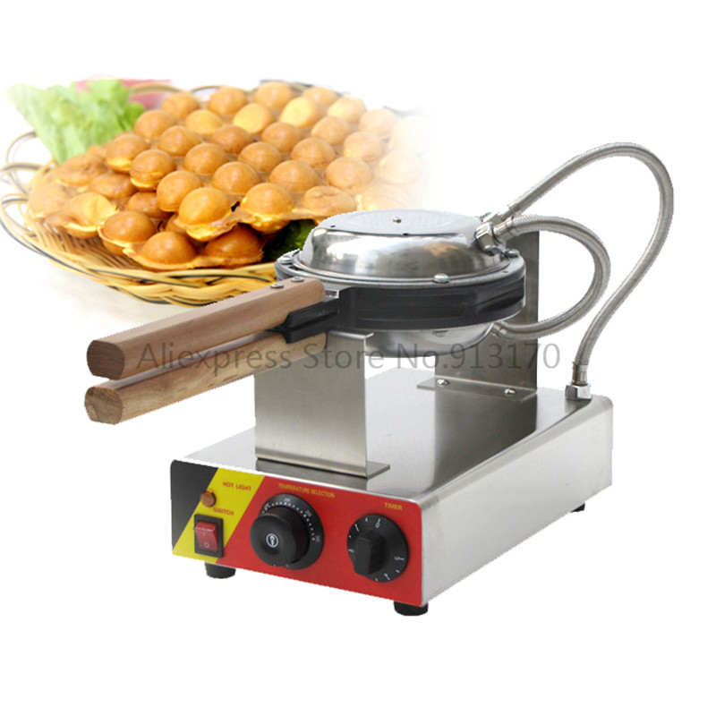 Stainless Steel Electric Egg Waffle Machine QQ Egg Waffle Maker 110V/220V Snack equipment for home and commercial using