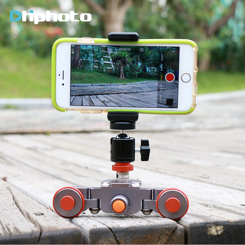 Ulanzi Flexible Motorized Electric Autodolly 3-Wheel Pulley Car Video Rail Rolling Track Slider Skater for iPhone Nikon DSLR