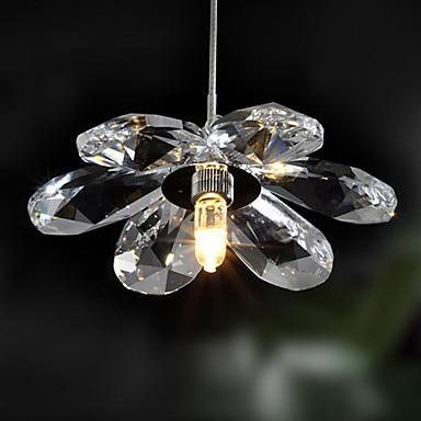 Luminaire Luster De Cristal Kristal Çiçək şəklində LED Müasir - Daxili işıqlandırma - Fotoqrafiya 3