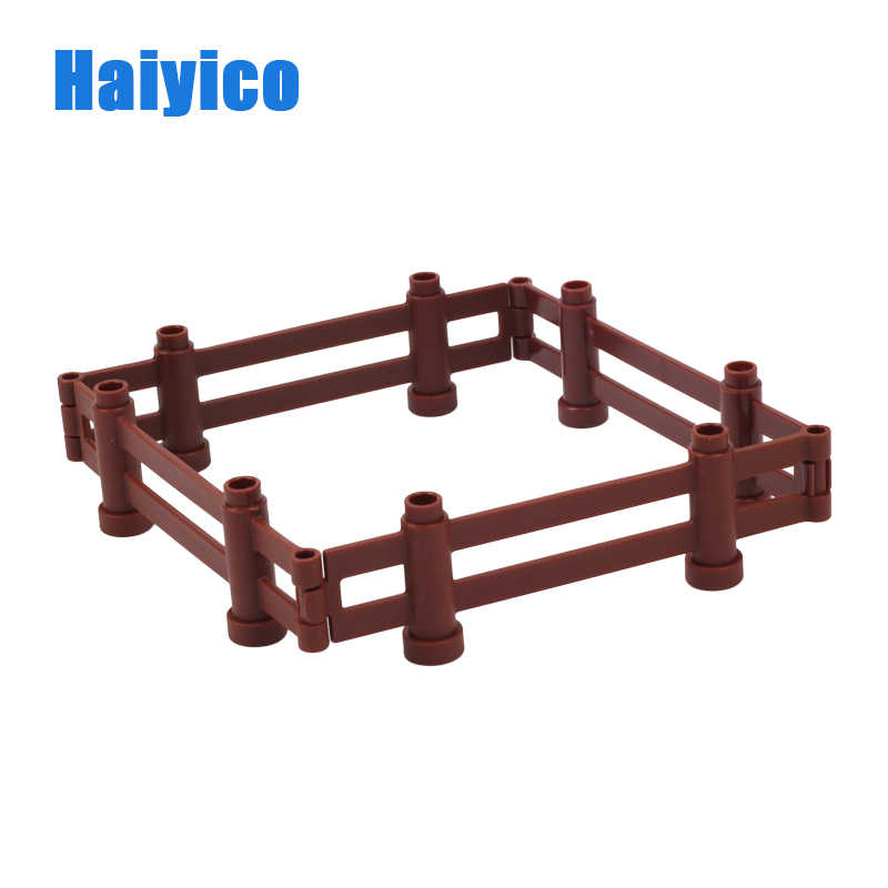 Haiyico 4pcs Long Fence Building Blocks Assemble Toy Compatible With Duplo Bricks set Educational Toys For Kids Children Gifts