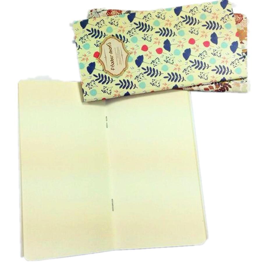 1pcs/lot Kraft Paper Flower World Notebook Paper Pad Marker Portable Notepads Office And School Supplies Reward Gift
