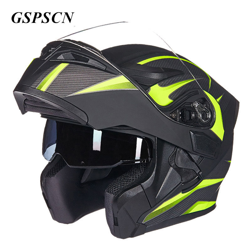 GSPSCN Double Lense Motorcycle Helmet Full Face Helmet Casco Racing Capacete with Sun Visor Capacete Casque moto Capacete free shipping 2015 new flip up motorcycle helmet double lens inner sun visor dot approved casco capacete