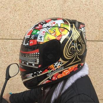 Kask motocyklowy pełna twarz kask motocyklowy kask wysokiej jakości z unoszoną szybą motocykl ciepły kask dla kobiet i mężczyzn tanie i dobre opinie MALUSHUN Wstrząsoodporny Gąbka Unisex Full Face 1 6kg