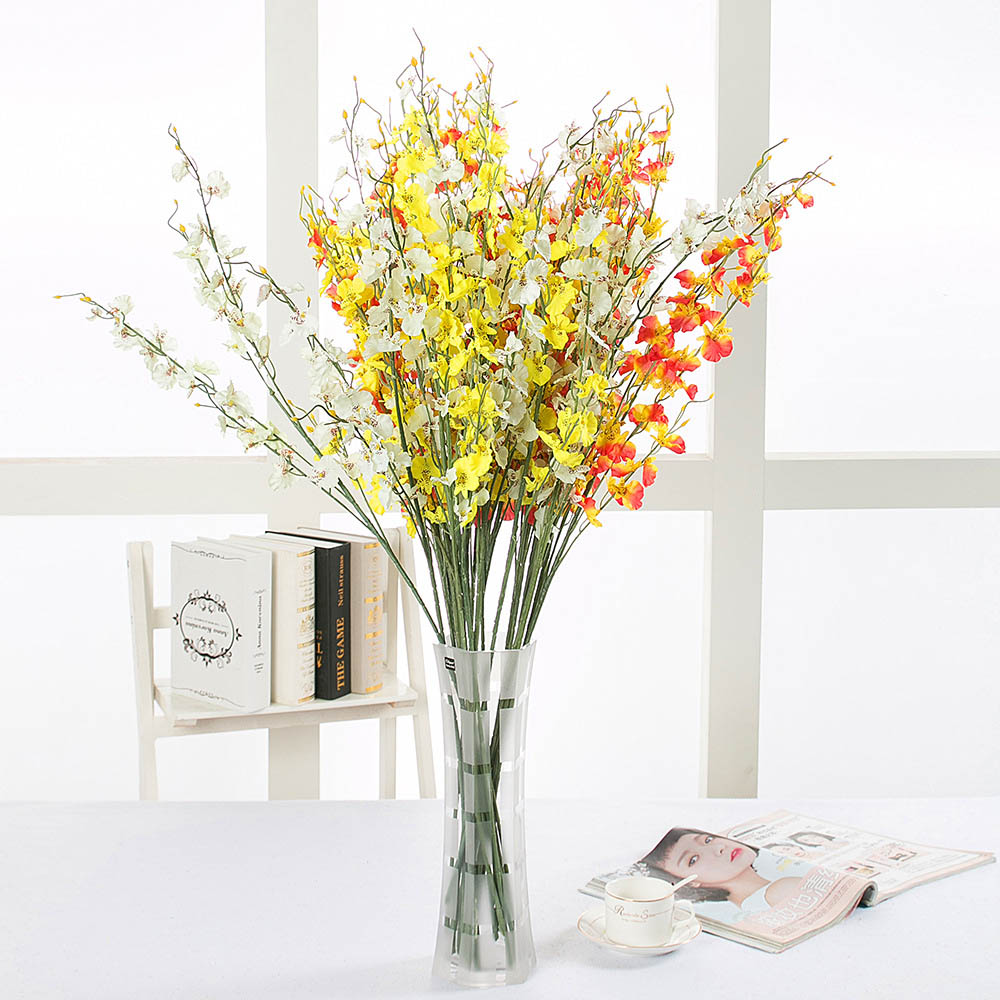 ③10pcs/lot Real Touch Silk White Orchid For Home Table Decor DIY ...