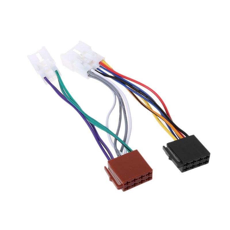 ISO Car Radio Wiring Harness Adapter Plug Cable For TOYOTA ... Toyota Land Cruiser Radio Wiring Harness on
