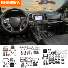 SHINEKA Interior Mouldings For Ford F150 2015+ ABS Car Decoration Cover Stickers Kit Accessories 2015 Up