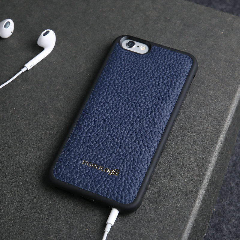 hot sale online e2b6b 26a48 US $28.47 |Luxury Brand Genuine cow leather cell phone case for iPhone X 6  10 SE 7 plus case back cover Apple phone custom name service-in Fitted ...