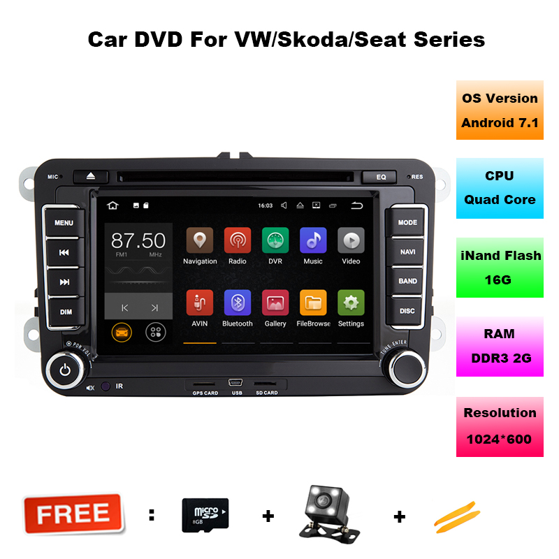 android 7 1 car dvd vw gps navigation wifi bluetooth radio autoradio 2 din for volkswagen golf 4. Black Bedroom Furniture Sets. Home Design Ideas