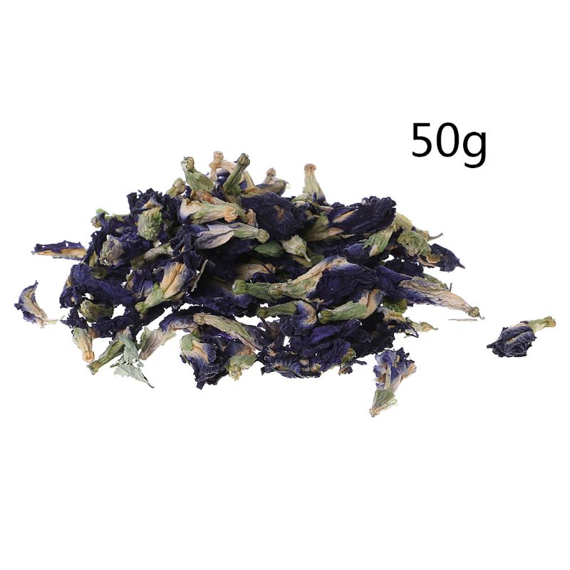 50g Bubble Water Tea Blue Butterfly Pea Tea Dried Clitoria Kordofan Pea Flower Tea