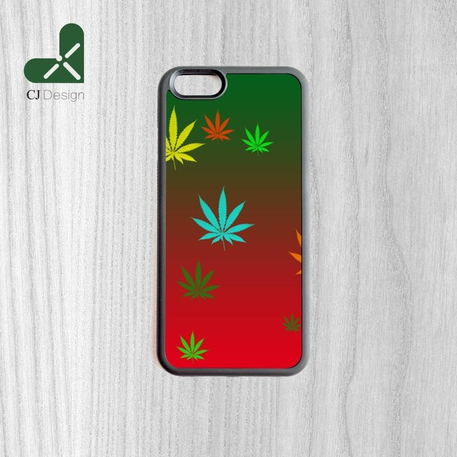 New Design Weed Colours Background Pattern Custom Made Durable Phone Case Cover For Iphone 6 6s