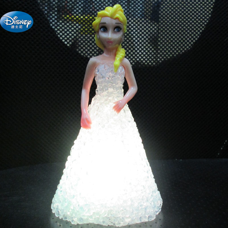 Frozen Elsa Action Princess crystal doll with LED light girl Anna Toy Figures princess elsa princess anna action figures 14cm cute figures anime movies figures collection models hot toys christmas gifts