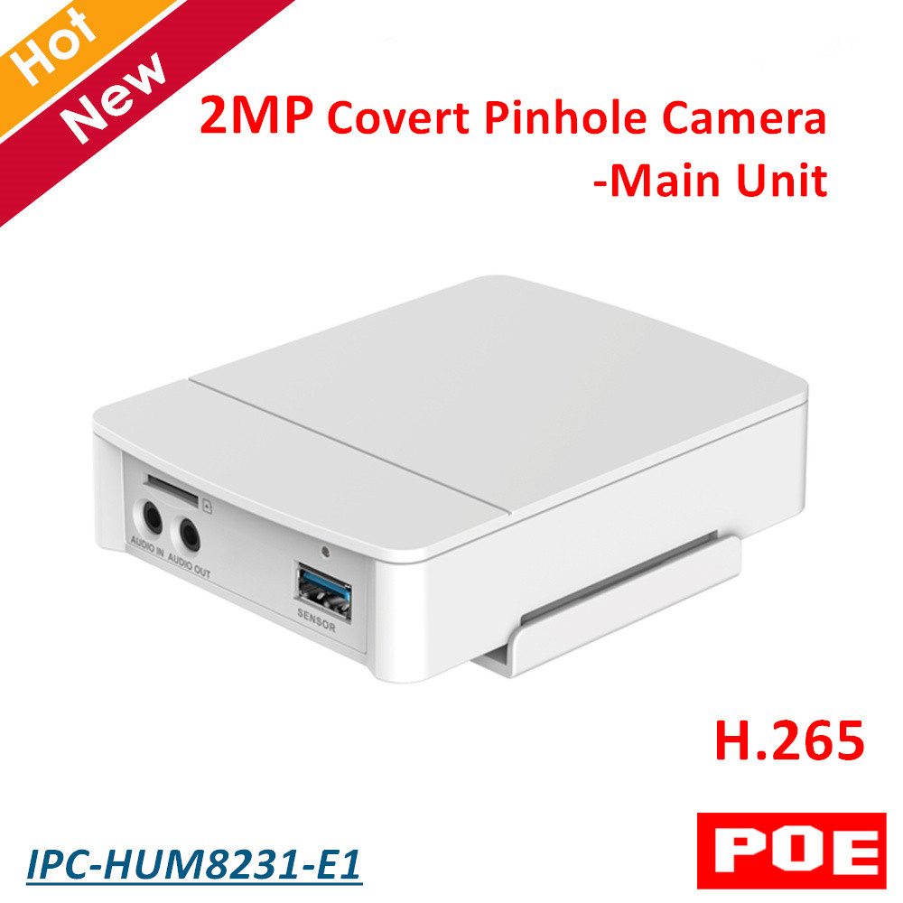 2MP Poe DH Covert Pinhole Camera Main Unit IPC-HUM8231-E1 H.265 Support Smart detection and SD Card Metal case 4mp poe dahua covert pinhole camera main unit ipc hum8431 e1 h 265 support smart detection and sd card metal case