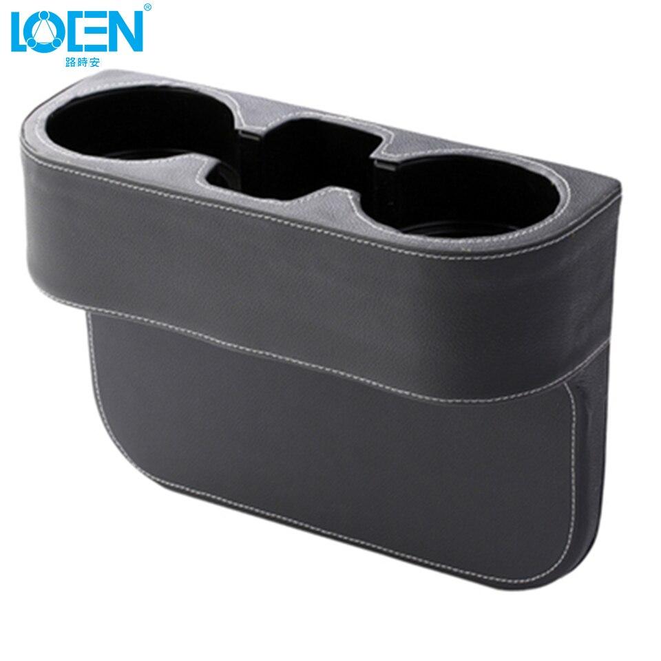 LOEN 상자 PU 가죽 휴대용 시좌 간격 컵 시가렛에 대한 - 자동차 인테리어 용 액세서리 - 사진 6
