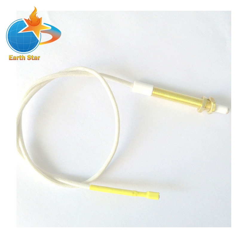 2 PCS M6 Gas Boiler General Spark Ignition Electrode With Thread On The Tip With 40CM Wire 5 pcs 27 gas cooktop ceramic spark electrode ignition for stoves gas stove accessories
