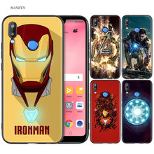 Silicone Case Cover for Huawei P20 P10 P9 P8 Lite Pro 2017 P Smart+ 2019 Nova 3i 3E Phone Cases Marvel Iron Man(China)