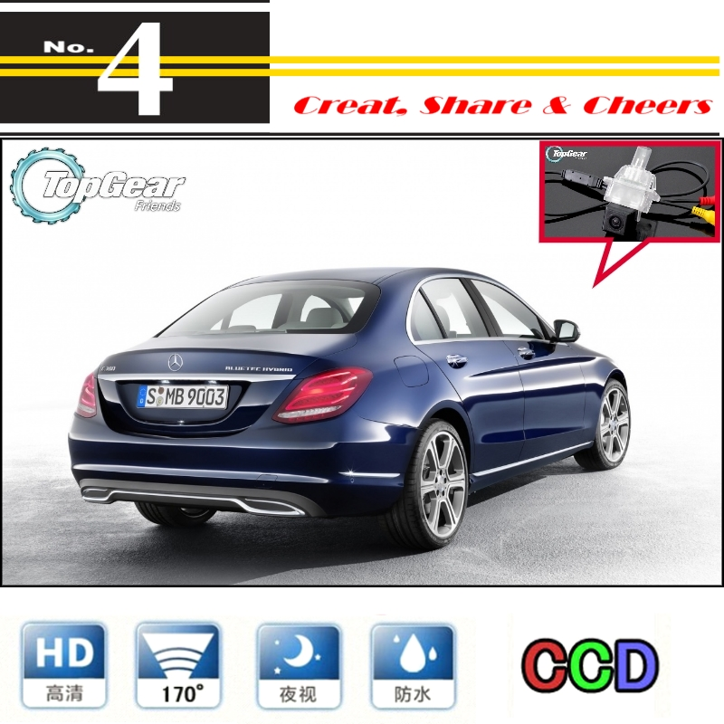 AupTech CCD Rearview Camera Car Reverse Camera HD with Adaptor Fakra RCA Cable Plug to Original Screen for Mercedes Benz C Class W204 C180 C200 C280 C300 C350 C63 AMG 2007-2014 E-Class W212 2009-2015 4350451238